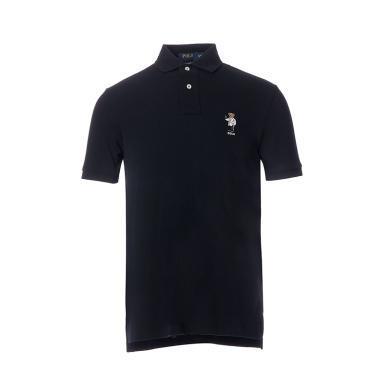 [支持购物卡]美国正品 POLO Ralph Lauren 拉夫劳伦男装夏季短袖彩色小熊POLO衫黑色