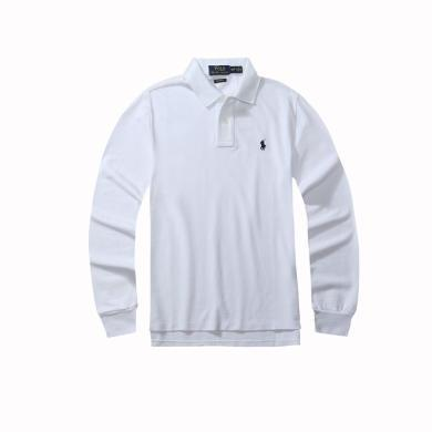 【支持購物卡】美國正品POLO Ralph Lauren拉夫勞倫經典男款小馬標純棉翻領修身長袖Polo衫白色