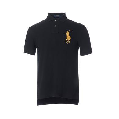 [支持购物卡]美国正品 POLO Ralph Lauren 拉夫劳伦男装夏季短袖经典大马标POLO衫黑色