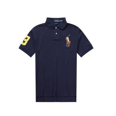 [支持购物卡]美国正品POLO Ralph Lauren拉夫劳伦男款纯棉短袖宝蓝色大马彩标
