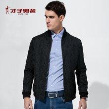 【清】才子男裝 春季新款jacket男士中青年夾克休閑潮流修身短款夾克外套男 CZ/2255E0122