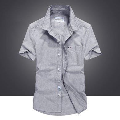 战地吉普 夏季新款男士短袖?#32435;来可?#22823;码宽松男装薄衬衣