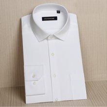 Evanhome/艾梵之家 新款商务职业衬衫男士长袖修身型免烫白衬衣男EC19401小领
