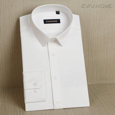 Evanhome/艾梵之家 新款商务?#32435;?#30007;长袖免烫修身型职业正装?#21487;?#34924;衣C060