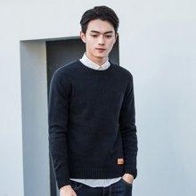 库依娜2019新款针织衫长袖男士毛衣春秋韩版潮流修身打底针织衫男FZ8012
