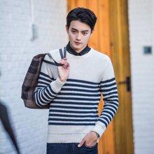 库依娜2019新款针织衫男薄款韩版毛衣男士长袖打底毛衫FZ8016