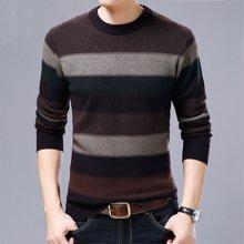 花花公子贵宾 秋冬新款男士毛衣衬衫领假两件针织衫男秋冬新款男式毛衣