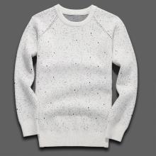 沐羊秋冬款新品韩版休闲男士印花个性套头圆领针织衫加厚款A1872