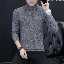 花花公子贵宾 秋冬装新款韩版高领男士毛衣修身青年男士针织衫