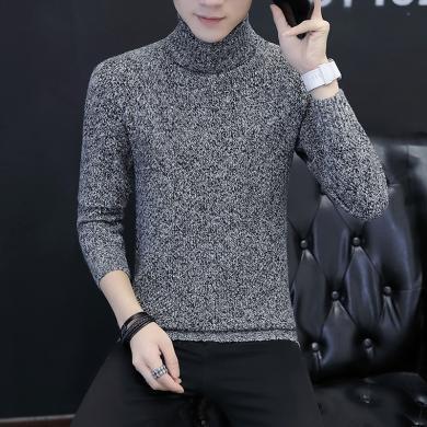 花花公子貴賓 秋冬裝新款韓版高領男士毛衣修身青年男士針織衫