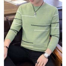 花花公子贵宾 秋冬装新款韩版圆领男士毛衣修身简约男士针织衫打底衫