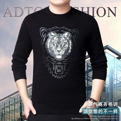 梵蒂古琦男装羊毛衫加厚冬季新款毛衣青年休闲针织衫017371