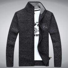 戰地吉普 秋季新款休閑開衫毛衣外套時尚舒適寬松立領毛衣男