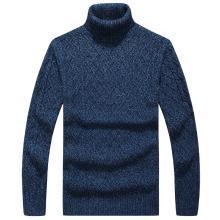 戰地吉普 高領毛衣男秋冬裝新款男裝時尚百搭舒適保暖套頭毛衫