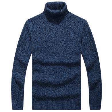战地吉普 高领毛衣男秋冬装新款男装时尚百搭舒适保暖套头毛衫