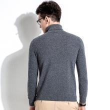 沐羊商务内搭男式男士套头圆领毛衣男休闲翻领羊绒衫B37520