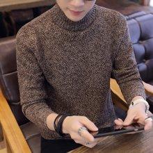 芃拉新款厚款羊毛衫男学生羊毛针织衫高领秋季青少年毛衣男韩版毛线衣KLB1107