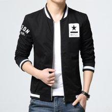 卓狼夹克外套男士休闲棒球领水洗夹克短款春季新款韩版潮流时尚男潮J8801