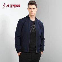 TRiES/才子男装 正品夹克秋季新品牌外套商务休闲成熟立领抗皱上衣2275E6322