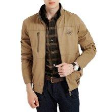 战地吉普 秋冬装新款加肥加大码男士两面穿外套休闲中年夹克风衣
