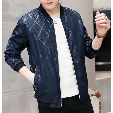 魔力怪車 春秋裝新款韓版潮流修身青年休閑男裝薄帥氣夾克衫男士外套