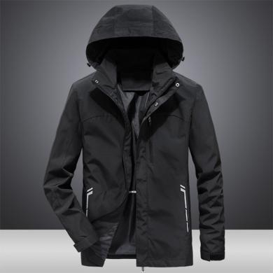 戰地吉圃 新款男士秋季薄款夾克戶外寬松風衣大碼休閑青年夾克男