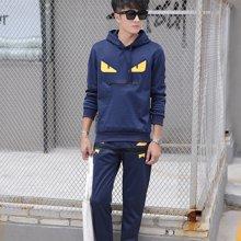 卓狼卫衣男韩版潮春季青年男装学生休闲运动服套装外套TZ38