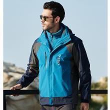战地吉普 冬季新款男装卫衣外套可脱卸内胆保暖户外冲锋衣户外二件套男