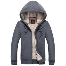 战地吉普 秋冬装新款男装时尚连帽卫衣外套舒适保暖加绒开衫卫衣男