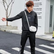 DupuSen度普森卫衣套装男秋季2019新款韩版潮流一套衣服帅气连帽运动休闲两件套CY-103