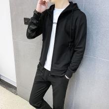 DupuSen度普森卫衣套装男秋季2019新款韩版潮流一套衣服帅气连帽运动休闲两件套CY-102