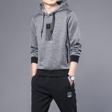 DupuSen度普森2019秋冬季男式卫衣长裤青少年休闲跑步运动套装学生两件套潮流CY-923