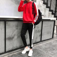 DupuSen度普森男士休闲卫衣套装2019新款运动装韩版潮流情侣长袖衣服男两件春季RK-856