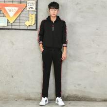 DupuSen度普森学生套装两件套运动套装两件套跑步韩版两件套情侣套装两件套休闲套装两件套长袖韩版两件套WM-936