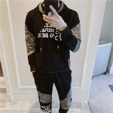 DupuSen度普森学生套装两件套运动套装韩版跑步套装两件套情侣套装潮流休闲套装两件套长袖套装韩版RK-TZ601