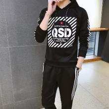 DupuSen度普森学生套装两件套运动套装两件套跑步套装两件套情侣套装两件套休闲套装两件套长袖套装两件套HC-8018