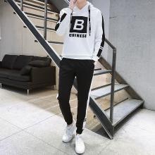 DupuSen度普森学生套装两件套运动套装韩版跑步套装两件套情侣套装潮流休闲套装百搭长袖套装两件套AP-9165