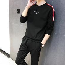 DupuSen度普森学生套装两件套运动套装韩版跑步套装两件套情侣套装潮流休闲套装两件套长袖套装两件套WM-971