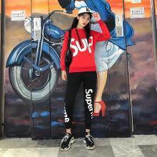 DupuSen度普森休闲运动套装男春季时尚韩版潮流连帽2019新款跑步青年情侣两件套RK-857