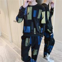 DupuSen度普森学生套装两件套运动套装百搭跑步套装韩版情侣套装两件套休闲套装日系长袖套装两件套RK-TZ605