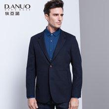 狄亚诺 秋季新款商务休闲男士羊毛修身西装 便装单西外套男  215502