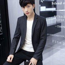 花花公子贵宾 四季新款韩版青年小西装男士短款单西修身休闲西服外套