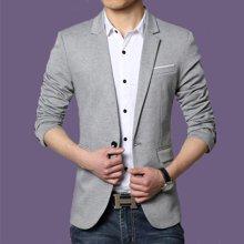 花花公子贵宾 四季新款韩版修身男士西服外套商务男装青年休闲小西装