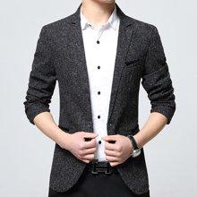 花花公子贵宾 四季新款韩版修身商务小西装英伦休闲男士西服外套
