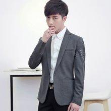 魔力怪车 新款韩版修身帅气小西服休闲纯色长袖青年男士西装外套