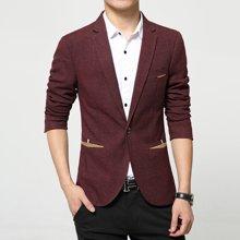 花花公子贵宾 四季新款韩版修身男士西装休闲一粒扣西装外套