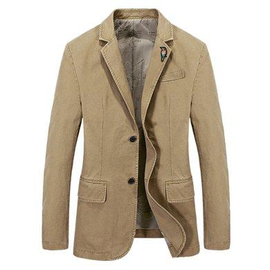 戰地吉普 春秋裝新款修身顯瘦男士西裝商務休閑小西服外套
