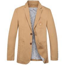 战地吉普 秋季新款英伦风纯色休闲西服经典百搭男士西装外套