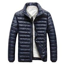 战地吉普 冬季新款男士轻便羽绒服立领不钻绒白鸭绒保暖外套