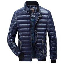 战地吉普 冬季新款修身长袖立领大码男装轻薄羽绒服保暖外套